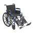 Drive Medical Blue Streak Wheelchair w/Flip Back Desk Arms & Elevating Leg Rests, 1EA/CS BLS16FBD-ELR