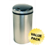 iTouchless 13 Gallon Semi-Round Extra-Wide Opening Touchless Trash Can® HX ITOIT13HXCS
