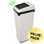 iTouchless 14 Gal. Automatic White Touchless Trash Can® SX ITOIT14SWCS