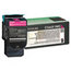 Lexmark Lexmark C544X1MG Extra High-Yield Toner, 4000 Page-Yield, Magenta LEXC544X1MG