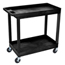 Luxor 2-Shelf High Capacity Tub Cart LUXEC11-B