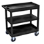Luxor 18x32 Cart with 2 Tub Shelves and 1 Flat LUXEC121HD-B