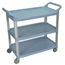 Luxor 3-Shelf Utility Cart - 300 lb Capacity LUXSC13-G