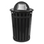Witt Industries Oakley Collection Dome Top Receptacle WITM3601-DT-BK