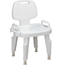 Medline Bench, Bath, with Back, with Arms, Composite MEDMDS89755R