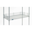 Nexel Industries Chrome Shelf Ledge, Size 4