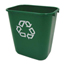 Rubbermaid Commercial Deskside Plastic Container for Paper Recycling RCP2956-06GRE