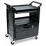 Rubbermaid Commercial Rubbermaid Commercial® Utility Cart with Locking Doors RCP345700BLA