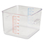 Rubbermaid Commercial SpaceSaver Square Containers RCP6312CLE