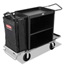 Rubbermaid Commercial High-Capacity Housekeeping Cart RCP9T62 BLA