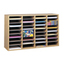 Safco Adjustable Compartment Wood Literature Organizers SFC9424MO