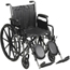 Drive Medical Silver Sport 2 Wheelchair with Detachable Full Arms and Swing Away Footrest SSP216DFA-SF