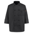 Chef Designs Men's Spun Poly Chef Coat UNF0427BK-RG-M