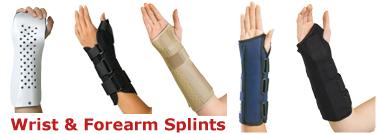 Wrist Forearm Splints