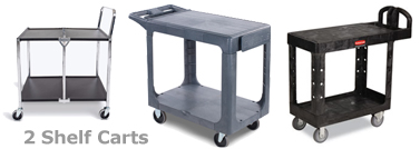 2 Shelf Carts