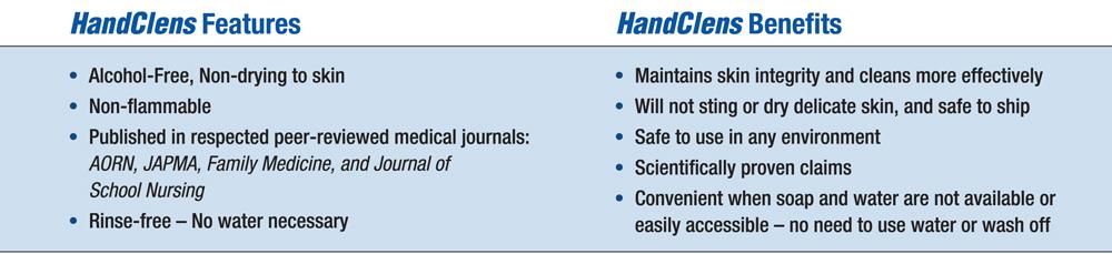 HandClens features, Benefits