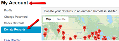 Donate Your Rewards to Homeless Shelters