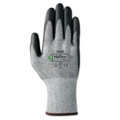 ANS012-11-435-9 - AnsellHyFlex® 11-435 Medium Cut-Resistant Gloves, Size 10, Black; Heather Gray