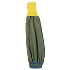 ANS012-59-406-26IN - AnsellFR Kevlar Blend Welders Sleeves, 26 In Long, Elastic Closure, Brown/Yellow/Blue