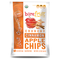 BFG29382 - Bare FruitOrganic Baked-Dried Cinnamon Apple Chips