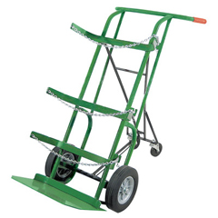 ORS021-55-3B-FRA - AnthonyRetractable Dual-Cylinder Delivery Carts, 10 In Solid Rubber/Plastic Rim Wheels