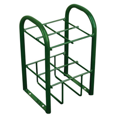 ORS021-6040 - AnthonyMultiple Cylinder Stands, Steel, 10 1/2 In W X 19 1/2 In L X 12 1/2 In D, Green
