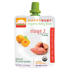 BFG64975 - Happy BabyApricot & Sweet Potato Pouch 6+ Months