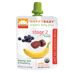 BFG64976 - Happy BabyBanana, Beet & Blueberry Pouch 6+ Months