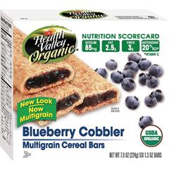 BFG30996 - Health ValleyBlueberry Cobbler Cereal Bar