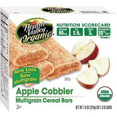 BFG30997 - Health ValleyApple Cobbler Cereal Bar