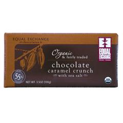 BFG30405 - Equal ExchangeCaramel Crunch with Sea Salt Chocolate Bar (55% Cacao)