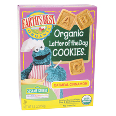 BFG39154 - Earth's BestLetter of the Day Oatmeal Cinnamon Cookies