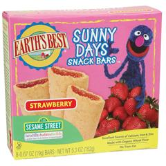 BFG39162 - Earth's BestSunny Days Strawberry Snack Bars