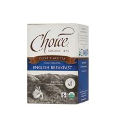 BFG21184 - Choice Organic TeasFair Trade Decaffeinated English Breakfast