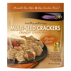 BFG36154 - CrunchmasterRoasted Garlic Multi-Seed Crackers