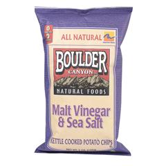 BFG35765 - Boulder CanyonMalt Vinegar & Sea Salt Kettle Chips