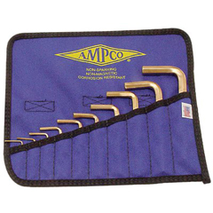 AST065-M-42 - Ampco Safety Tools - 10 Piece Allen Key Sets