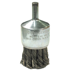 ANB066-12071 - Anderson BrushKnot Wire End Brushes-NH Series-Hollow End-Swaged Cup