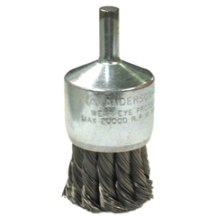 ANB066-12081 - Anderson BrushKnot Wire End Brushes-NH Series-Hollow End-Swaged Cup