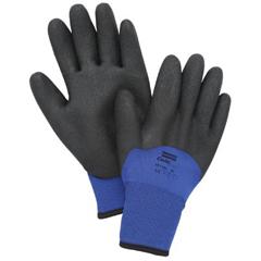 NOR068-NF11HD9L - North Safety - NorthFlex Cold Grip™ Coated Gloves, Large, Black/Blue