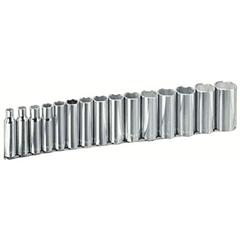 "ARM069-15-580 - Armstrong Tools15 Piece 1/2"" Dr. Deep Socket Sets"