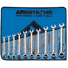 ARM069-54-950 - Armstrong Tools10 Piece Metric Geared Reversible Wrench Sets