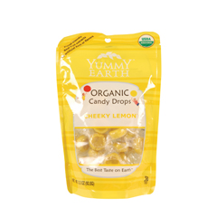 BFG28729 - Yummy EarthCheeky Lemon Candy Drops, Stand Up Pouch