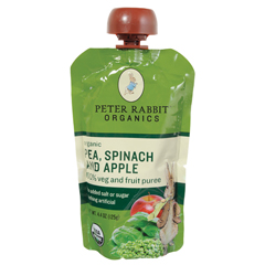 BFG01327 - Peter Rabbit OrganicsPea, Spinach & Apple Puree Pouch
