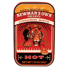 BFG35156 - Newman's Own OrganicsCinnamon Mints Tin