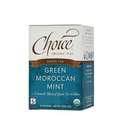 BFG28138 - Choice Organic TeasFair Trade Green Moroccan Mint Tea