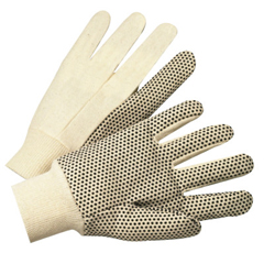 ANR101-1000 - Anchor Brand1000 Series Dotted Canvas Gloves, Cotton Canvas, Heavy Nap, Mens, White