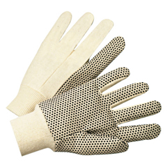 ANR101-1005 - Anchor Brand1000 Series Dotted Canvas Gloves, Cotton Canvas, Mens, White
