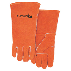 BWL902-100GC - Best WeldsPremium Leather Welding Gloves, Split Cowhide, Large, Russet
