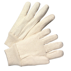 ANR101-1110 - Anchor Brand1000 Series Canvas Gloves, Mens, White, Knit-Wrist Cuff